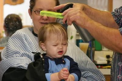 Andrew's First Haircut