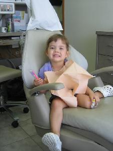 Hannah's First Dentist Visit.
